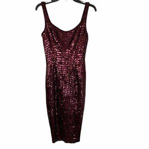 Jay Godfrey Wine color sequin fitted body con